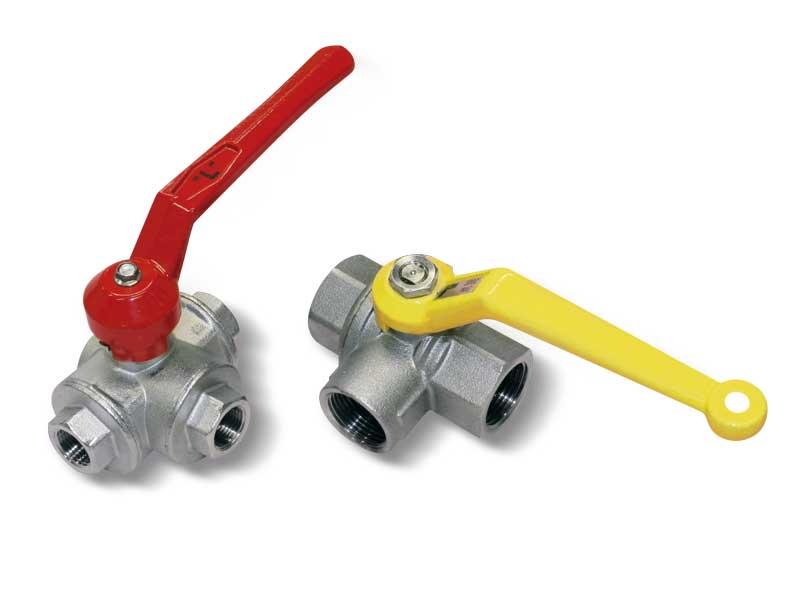 Manual 3-way vacuum valves