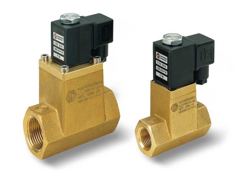 Direct drive 2-way vacuum solenoid valves