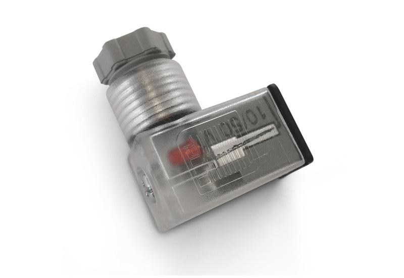 Solenoid pilot valves with interface valves and micro connectors EN 175301 - 803 (EX DIN 43650) - C, for solenoid pilot valve electric coils