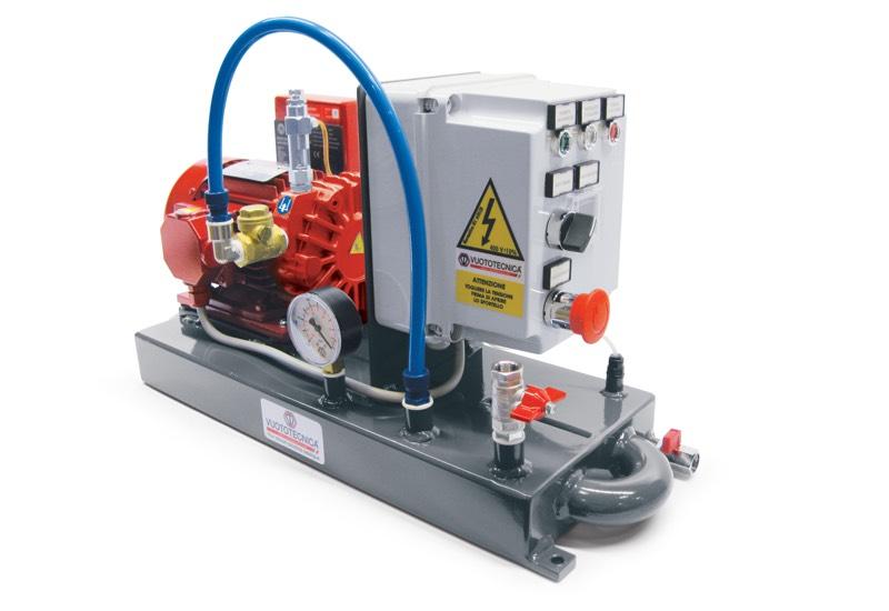 Mini pump sets DO 06V ... and DO 10V ... with lubrificated vacuum pumps
