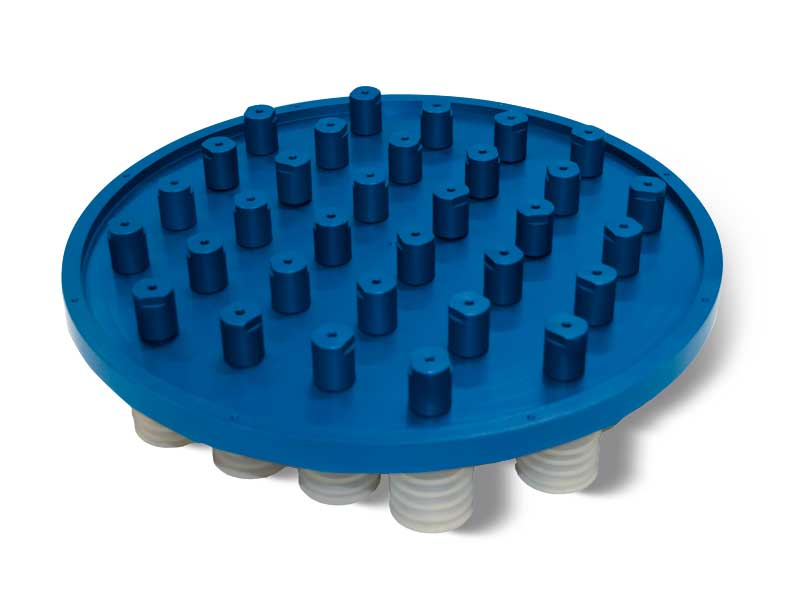 Vacuum cup suction plates with shut-off valves p2v2e, for octopus systems