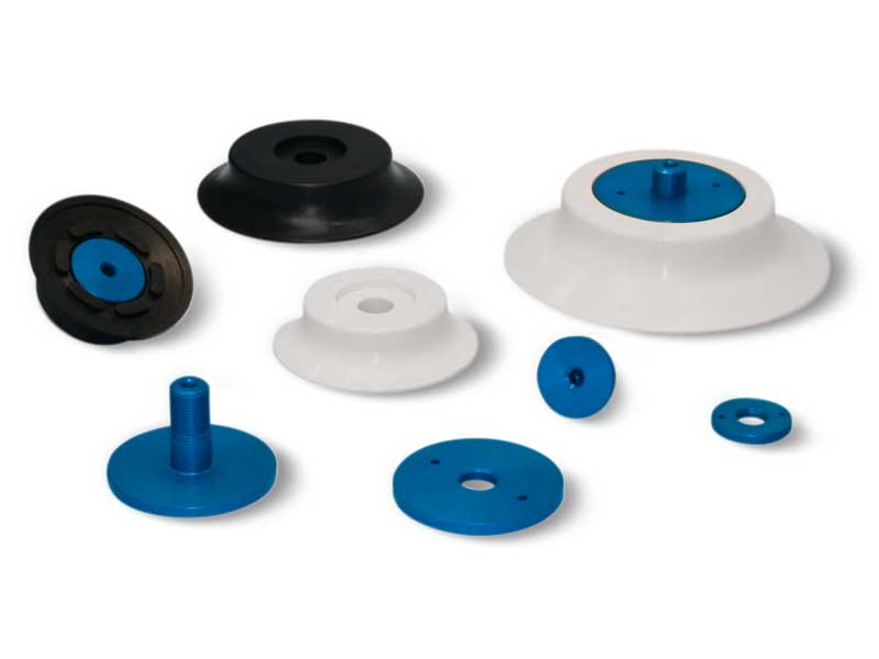 Flat circular Vacuum Pads with support