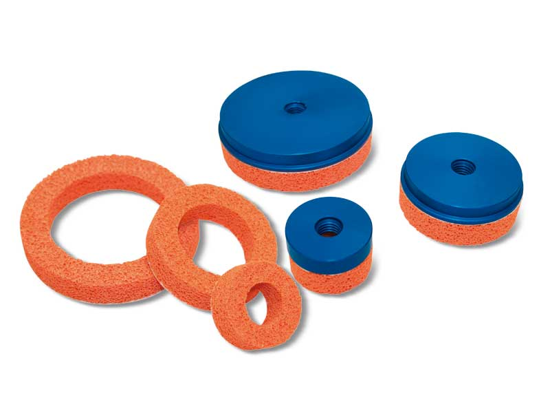 Flat circular foam rubber Suction cups with support