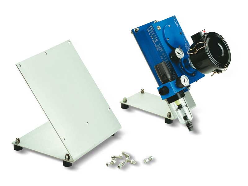 Pneumatic suction and blowing pump holding supports