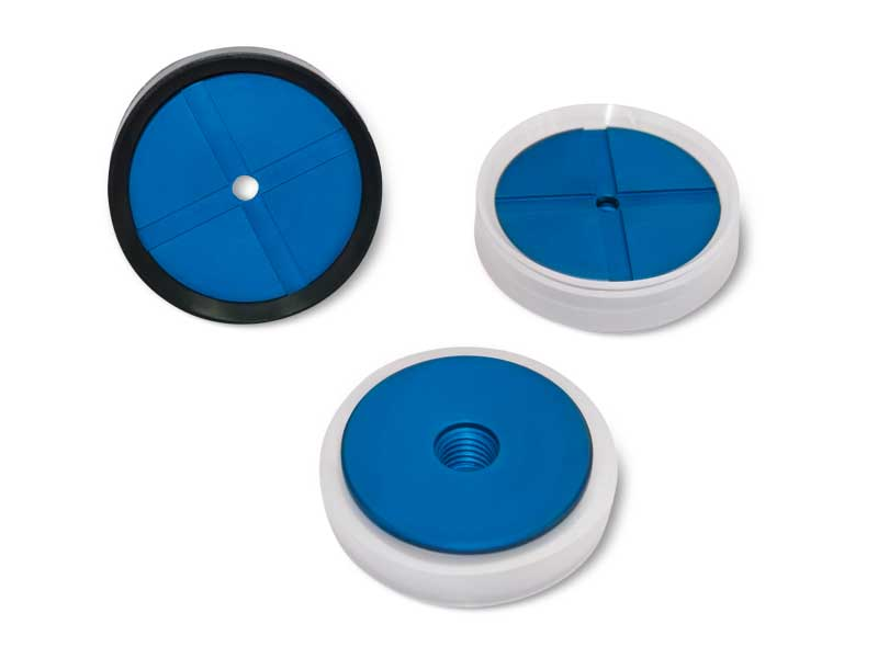 Flat circular Suction cups with support