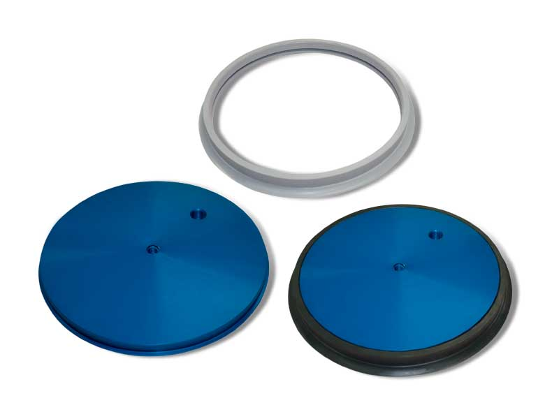 Flat circular cups with support