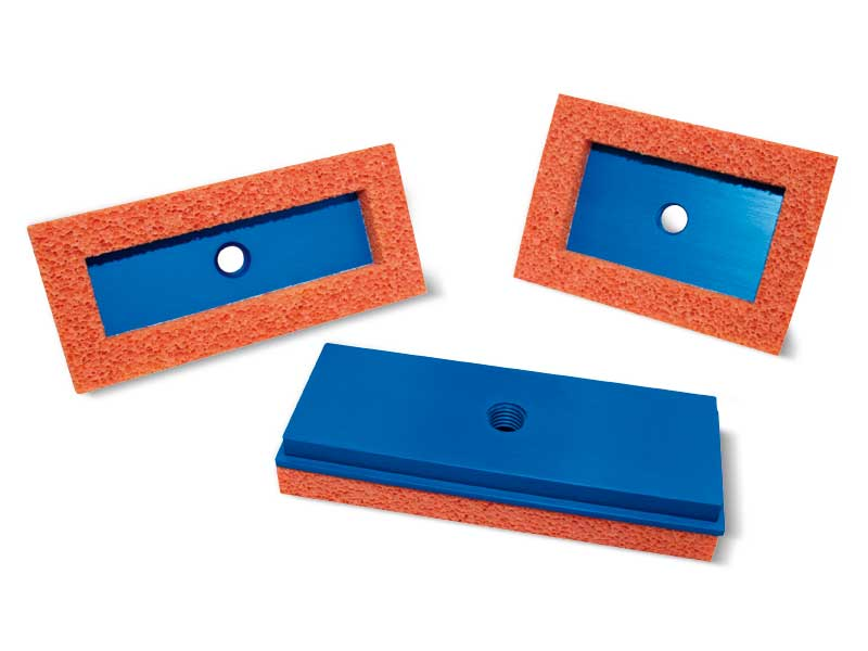 Flat rectangular foam rubber Suction cups with support