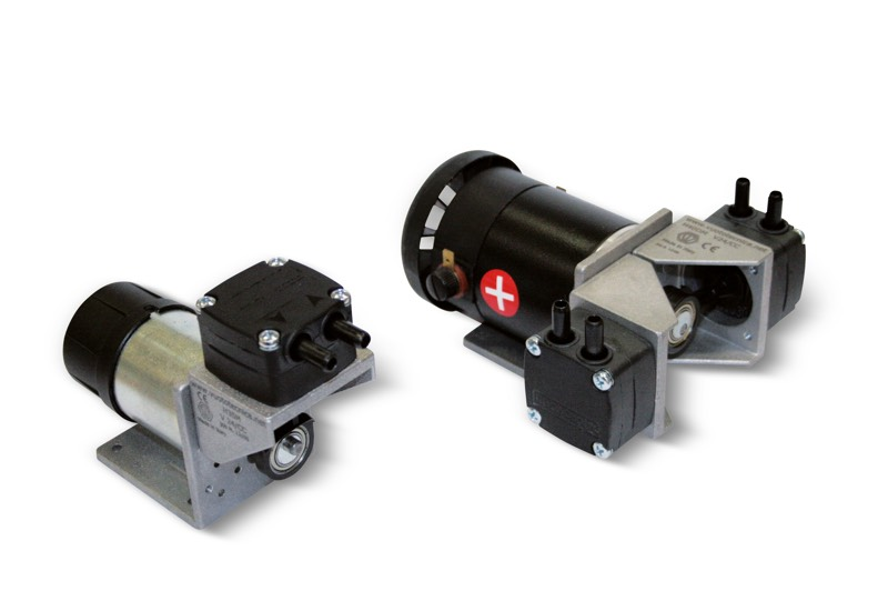 Membrane vacuum mini pumps, with dc motor
