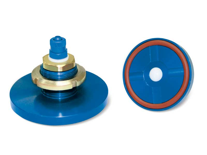 Built-in vacuum cups with ball valve
